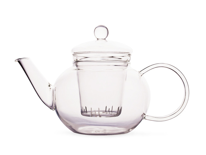 glass teapot with filter