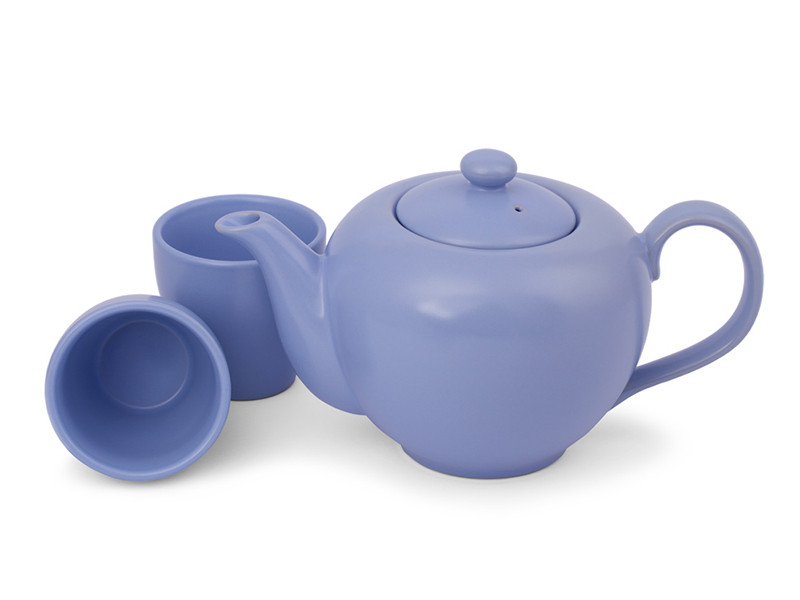 tea set shades of blue